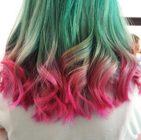 watermelon haircolor
