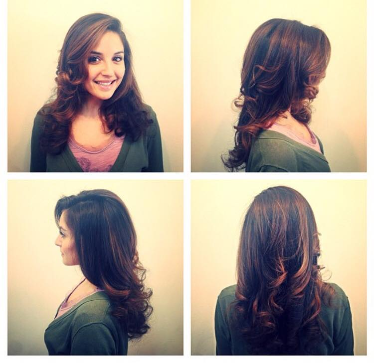 Partial highlights vs full highlights hair dark brown hairs