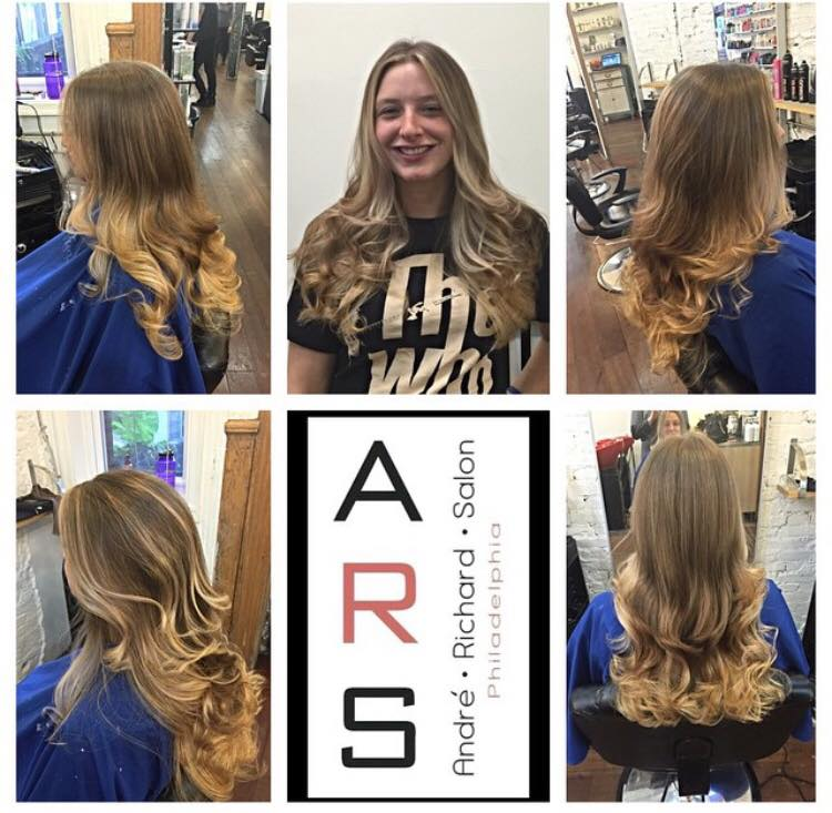 Long Blonde Hair Balayage Philadelphia