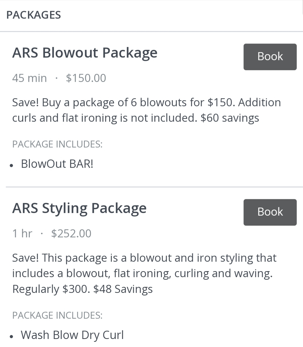 Blowout and Styling Package