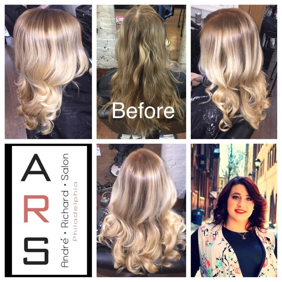 SingleProcess Balayage Haircut Best Salon in Philadelphia Andre Richard Salon