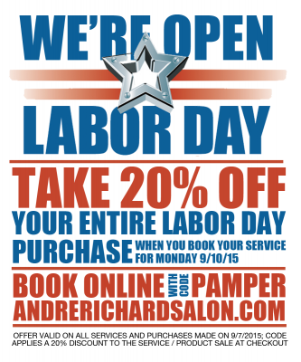 20% Off for Labor Day