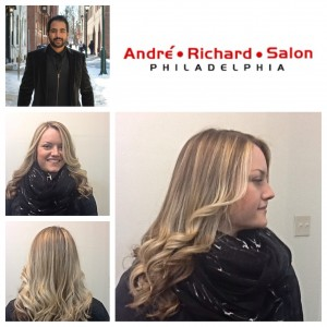 Blonde hair color specialist